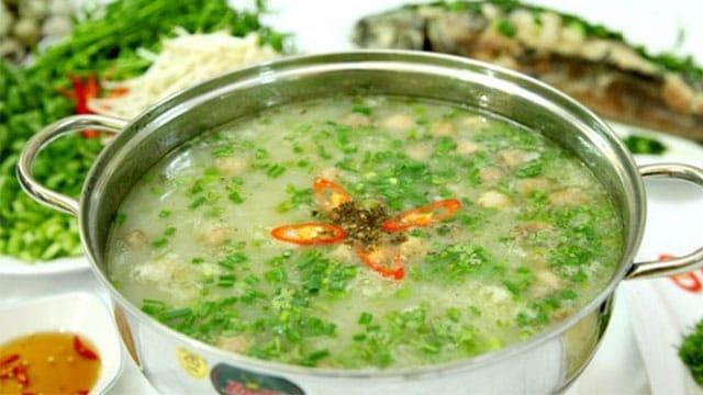 Tổng hợp đặc sản Cà Mau: Cháo cá kèo rau đắng Cà Mau - Vietflavour