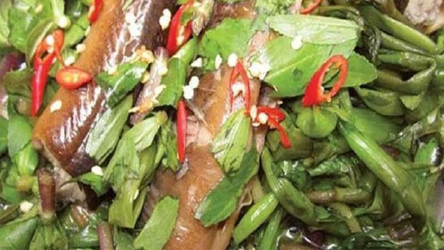 Tổng hợp đặc sản Cà Mau: Lươn um rau ngổ - Vietflavour