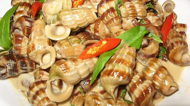 Ốc len xào dừa là món ăn vặt khoái khẩu cực hấp dẫn - Vietflavour