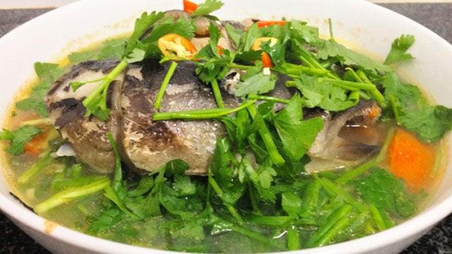 Tổng hợp tất cả các món canh ngon: Cá lăng nấu ngót - VietFlavour.com