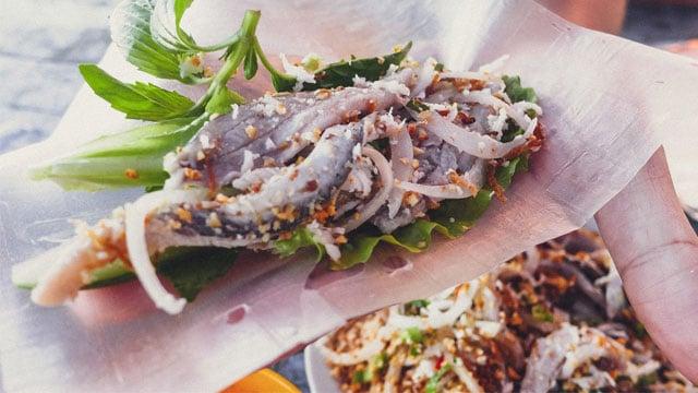 Gỏi cá bỗng sông Lô - Tổng hợp đặc sản Tuyên Quang