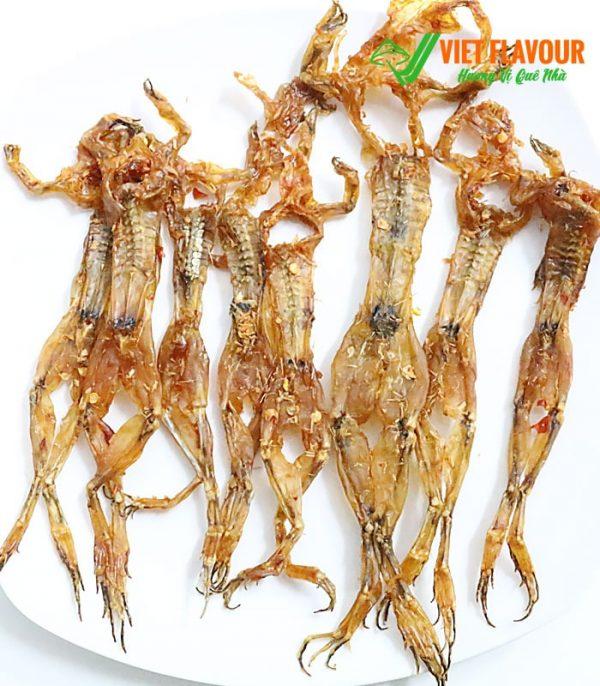 Khô nhái Đồng Tháp loại con nhỏ được phơi khô sau khi làm sạch và tẩm ướp gia vị giúp tăng hương vị cũng như giữ được vị ngọt của nhái đồng tự nhiên của vùng Đồng Tháp Mười. Điện thoại 039 929 5868